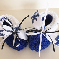 University Of Kentucky WILDCATS Handmade Baby Booties