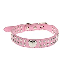 Lovely Pets hot selling Bling Crystal dog Collar Puppy Choker Cat Necklace Jun10