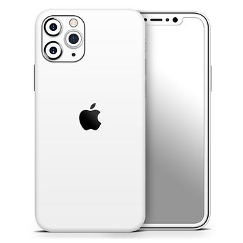 Solid State White - Skin-Kit compatible with the Apple iPhone 12, 12 Pro Max, 12 Mini, 11 Pro or 11 Pro Max (All iPhones Available)