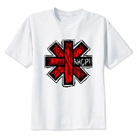 red hot chili peppers T-Shirt men Summer fashion casual white print t shirt for male comfortable boy top tees