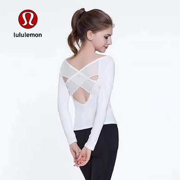 Lululemon Women Fashion Gym Yoga Sport Tunic Shirt Top