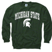 Michigan State Spartans Green Perennial II Crewneck Sweatshirt