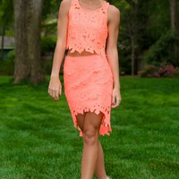 You Glow Girl Top-Neon Coral
