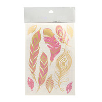 The Love and Madness Feather Metallic Tattoos