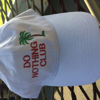 Retired - Do Nothing Cap- White  (Retired with a palm tree on the back)