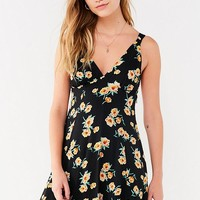UO Evelyn Empire Waist Mini Dress   Urban Outfitters
