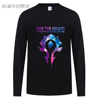 Autumn For The Horde Men T Shirt Men Boy  T-shirt  Long Sleeve Cotton T Shirts Tops