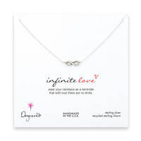 Dogeared Infinite Love Necklace, Sterling Silver 16 inch