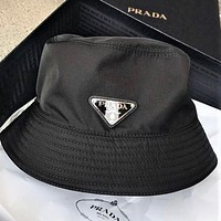 PRADA Classic Women Men Couple Sun Cap Fisherman Hat