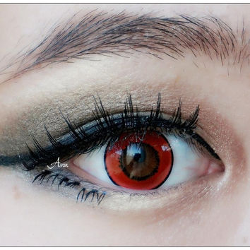 Fashion Halloween Vampire Coloruful Make-Up Cosmetic Contact Lenses for Party Red = 1945730500