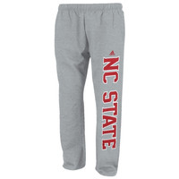 NC State Wolfpack adidas Campus Fleece Sweatpants – Gray