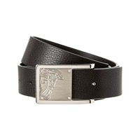 Versace Collection Medusa Leather Men's Belt