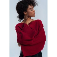 Red short sweater