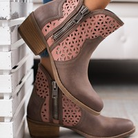 Old School Groove Not Rated Booties (Taupe)