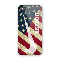 Vintage Nike Just Do It American Flag Hard Plastic Case For iPhone 6s 6s plus, 7