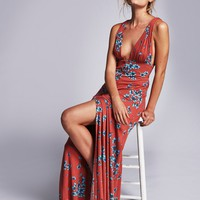 2017 hot sale women deep V-neck print dress bohemian floral printing sexy maxi long dress backless holiday empire long dress