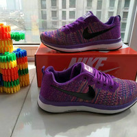 """Nike"" Fashion Multicolor Casual Male Female Breathable Comfortable Fly Weave Couple Sneakers Running Shoes"