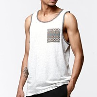 On The Byas Alec Tribal Pocket Tank Top - Mens Tee - White