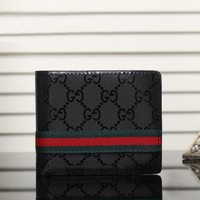 Day-First™ Boys & Men Gucci Leather Print Purse Wallet