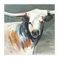 My Bull Painting by Jac on Stretched Canvas