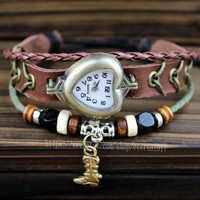 Fashion bracelet watches high quality leather watch ms rivets boots pendant watch watch cuffs