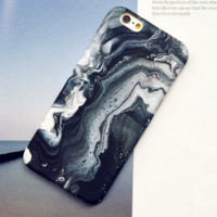 Creative fashion black and white oil painting Case Cover for Apple iPhone 5s 5 SE 6 6S 6 Plus 6S Plus LJ160831-003