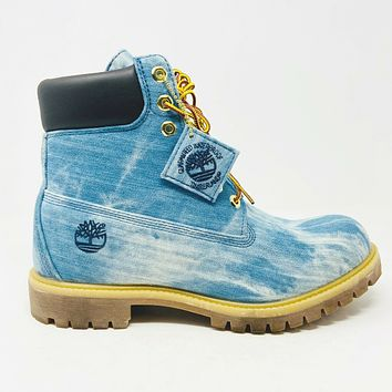 Timberland 6 Jimmy Jazz 21 Savage Blue Denim Mens Boots Size 9.5 TB0A15F1