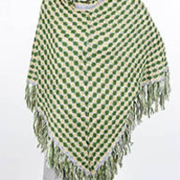 TURTLE NECK KNITTED PONCHO