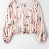 Don't Ask Why Satin Top , Rose