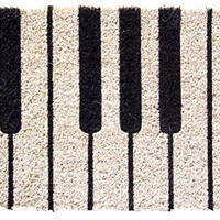 Entryways Piano Hand Woven Coir Doormat, 18 by 30-Inch