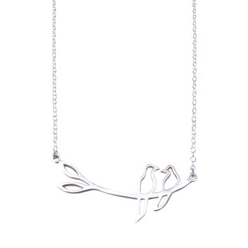 Silver Love Bird Necklace