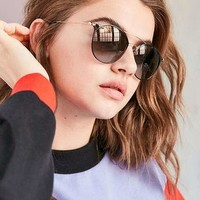 Ray-Ban Double Bridge Round Sunglasses - Urban Outfitters