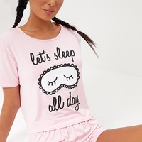 Baby Pink Sleep All Day PJ Set