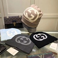 GUCCI Double G letter foreign style warm knit hat