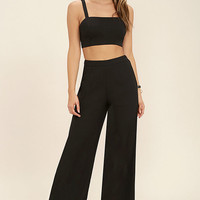 Koko Black Two-Piece Jumpsuit