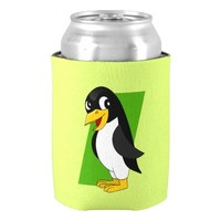 Cute penguin cartoon can cooler