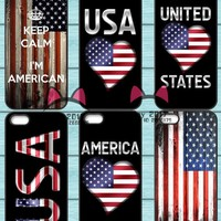 American USA Flag Phone Cover Case For Samsung