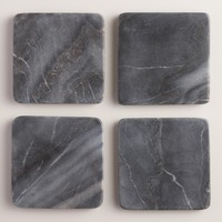 Black Marble Coasters Set of 4