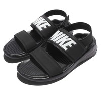 Wmns Nike Tanjun Sandal Black White Womens Fashion Sandals Slide 882694-001