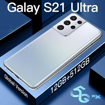 Global version Galay S21 Ultra smartphones Ram 12GB+ Rom 512GB  android mobile phoens 7.3 HDinch 6800mAh cellphones 10-core