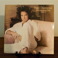 "Vintage 1982 Neil Diamond ""12 Greatest Hits, Volume II"" Vinyl LP Album Released by CBS Records / Retro Compilation Album"