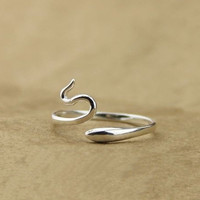 high-quality ring,simple snake ring,eternity ring,wedding ring,silvery ring Z027