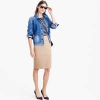 No. 2 pencil skirt in bi-stretch cotton : | J.Crew