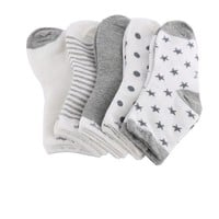 CREYONJ 5 pairs/set spring/autumn/winter sock 90% cotton baby socks set newborn infant toddler floor No bone for 0-10years promoted