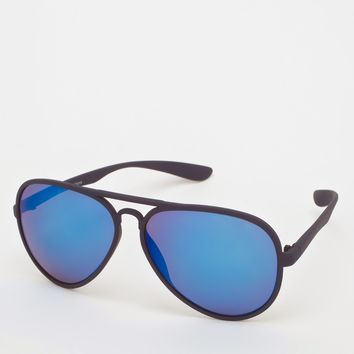 ASOS Plastic Aviator Sunglasses with Colo