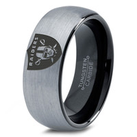 Oakland Raiders Ring Mens Fanatic NFL Sports Football Boys Girls Womens NFL Jewelry Fathers Day Gift Tungsten Carbide 231B