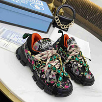 GUCCI GG SEGA Men's and Women's Double G Daddy Shoes