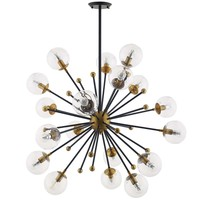 Constellation Clear Glass and Brass Ceiling Light Pendant Chandelier  EEI-3273