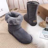 UGG Male / female / child Fashion Wool Snow Boots