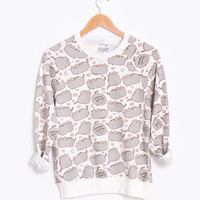 Pusheen the Cat print ladies sweatshirt